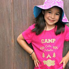 DIY Summer Camp Shirt Made On The Cricut