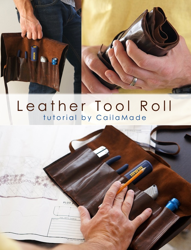 Leather Tool Roll from Caila Made