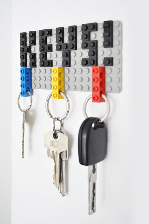 Lego Key Holder from Man Made DIY