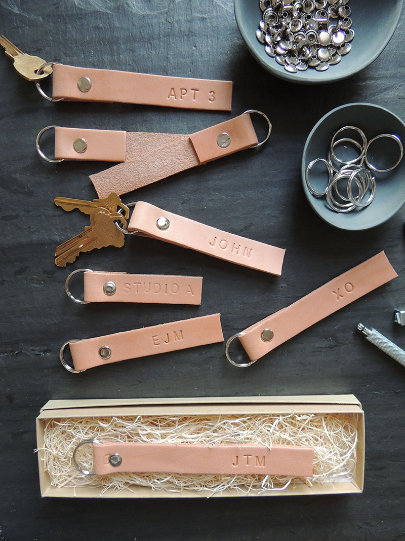 Monogrammed Leather Key Rings from The Every GirlMonogrammed Leather Key Rings from The Every Girl