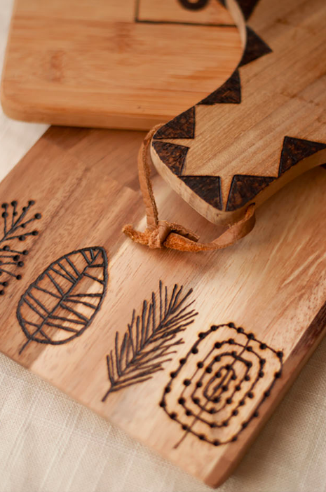 Etched Wooden Cutting Boards from Design Mom