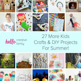 Looking for ways to keep your children entertained during summer break? Hello Creative Family pulled together 27 of the best kids crafts and DIY projects that are guaranteed to have your kids using their creativity and imagination this summer!