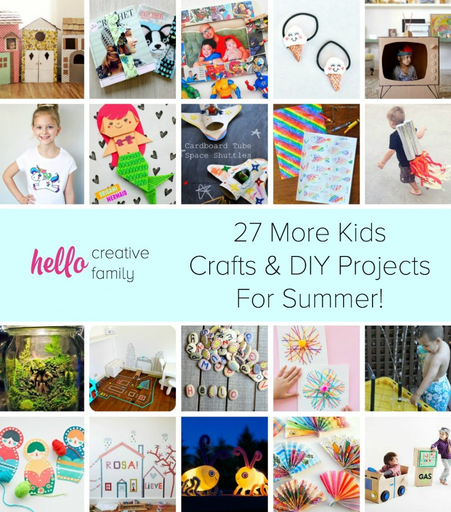Diy Craft Ideas For Toddlers: 27 Kids Crafts And DIY Projects For Summer