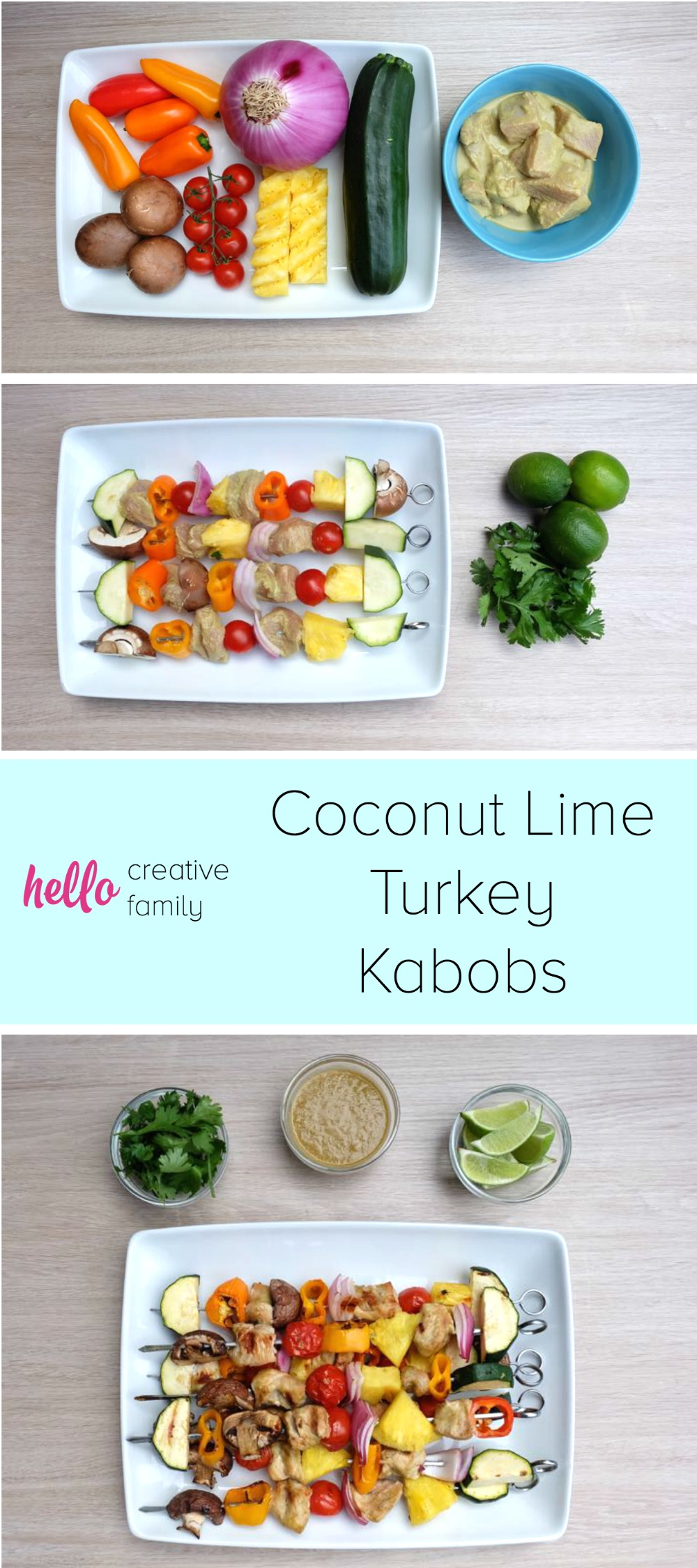 of lime, coconut, peanut and cilantro, this Coconut Lime Turkey Kabobs ...