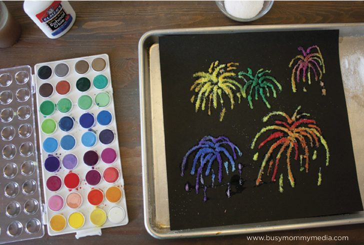 Firework Salt Painting from Busy Mommy Media