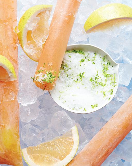 Grapefruit Tequila Paloma Ice Pop Recipe from Sweet Paul