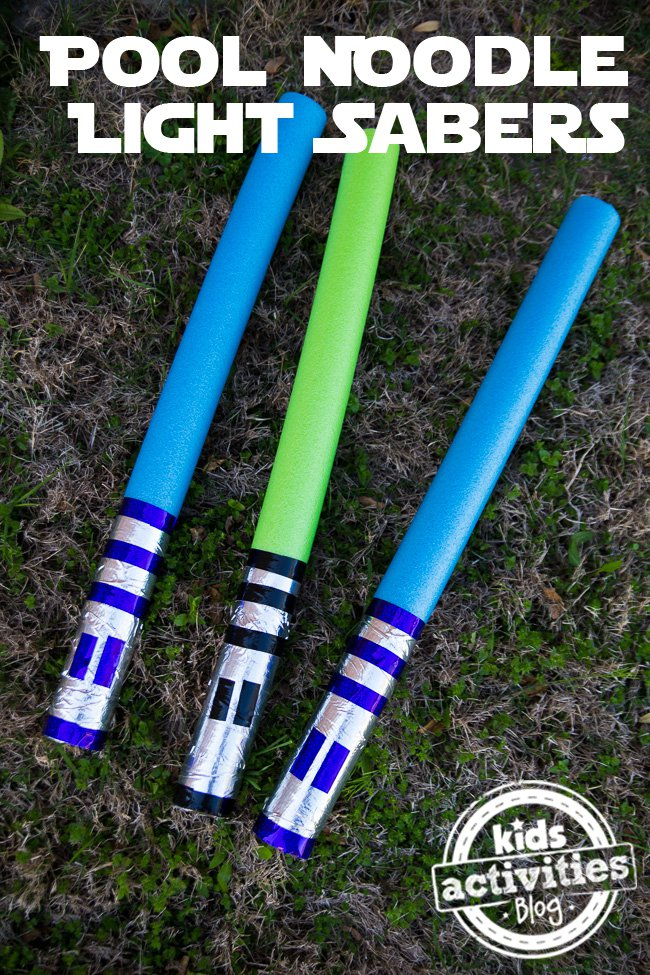 Light Saber Pool Noodles from Kids Activities Blog