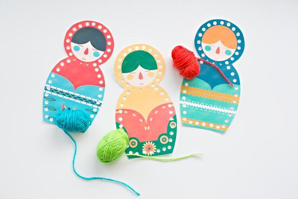 Matryoshka Doll Lacing Card Printable from Hello Wonderful