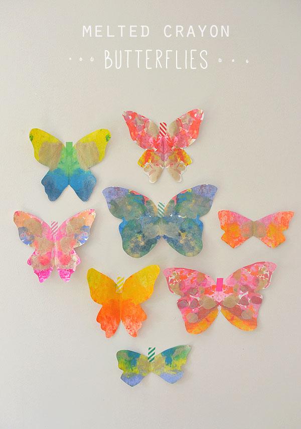 Melted Crayon Butterflies from Art Bar Blog