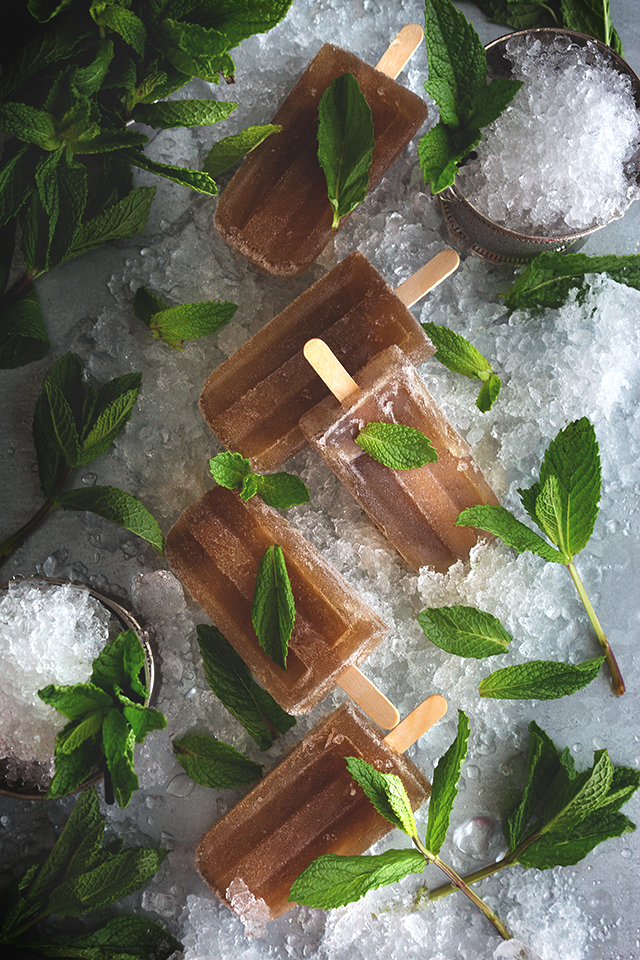 Mint Julep Ice Pop Recipe from Honestly Yum
