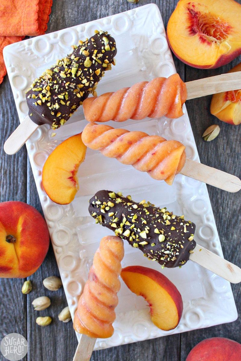 Peach Passion Ice Pops Recipe from Sugar Hero