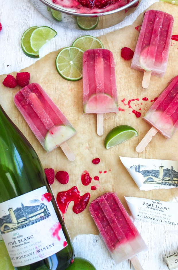 Raspberry Lime Sangria Ice Pop Recipe from Jerry James Stone