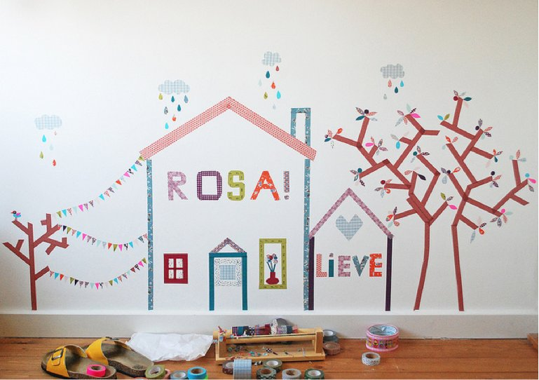 Washi Tape Mural from Pop Sugar