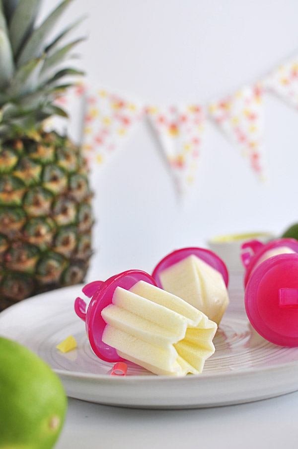 Whipped Pineapple Ice Pop Rings from Delineate Your Dwelling