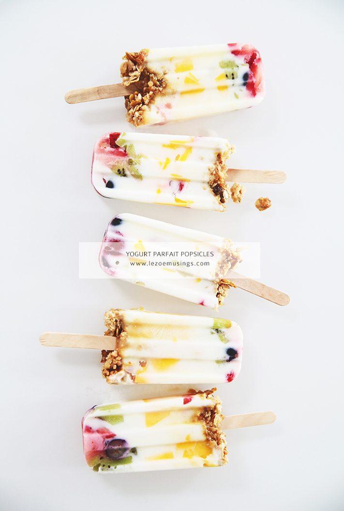 Yogurt Parfait Ice Pop Recipe from Le Zoe Musings