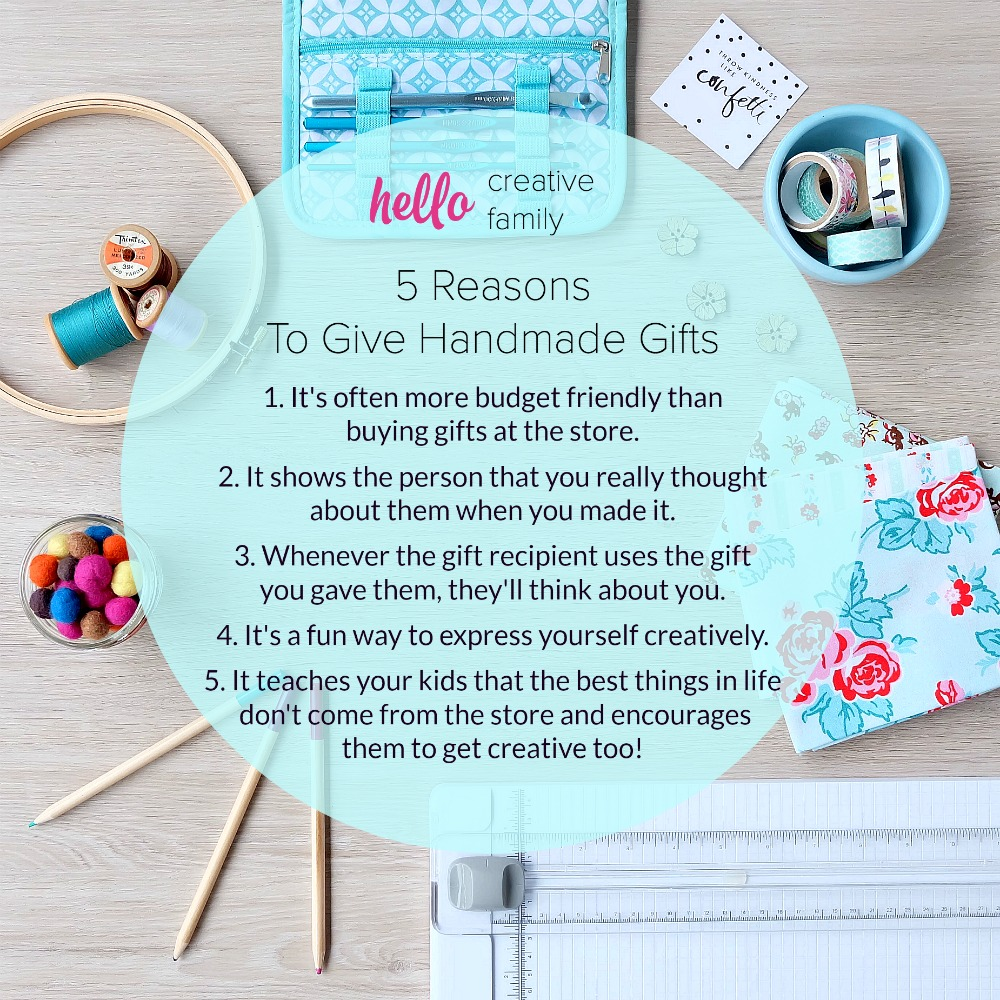 5 Reasons To Give Handmade Gifts