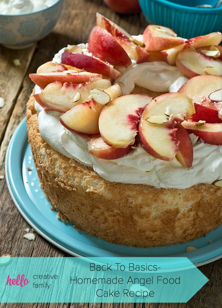 You'll never buy store bought angel food cake again after trying this classic homemade angel food cake recipe! Filled with tips and tricks, this recipe makes making angel food cake at home easy! Perfect topped with fresh, local berries and fruit!