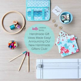 Handmade Gift Ideas Made Easy! Announcing the Hello Creative Family Handmade Gifters Club! Sign up to receive handmade gift ideas monthly using a mix of seasonal supplies and projects that take a bit longer. Get your gift closet stocked!