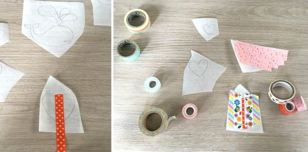 This DIY Washi Tape Stickers Decorated Notebook may just be the cutest thing I've ever seen! Decorate a dollar store sketchpad with DIY Washi Tape Stickers for an easy, personalized handmade gift idea for under $5.00!