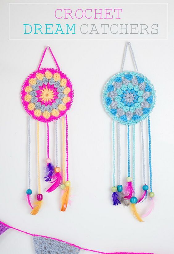 27 Crochet Projects That Are Going To Make You Want To Learn How To Crochet: Dream Catcher Crochet Pattern from Lets Do Something Crafty