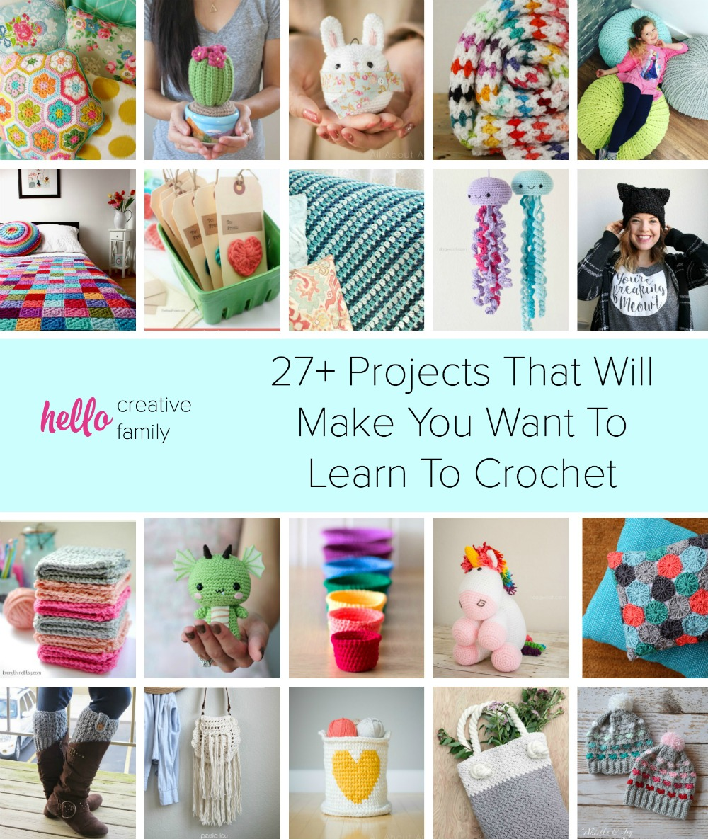 Learn How To Crochet : ... crocheting for years or want to learn to crochet, these 27+ projects
