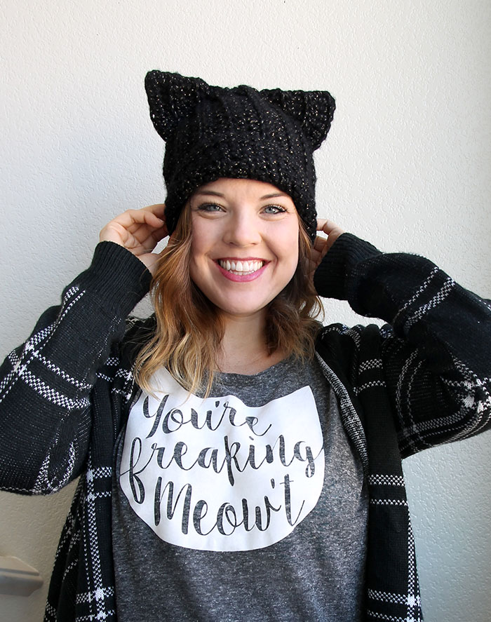 27 Crochet Projects That Are Going To Make You Want To Learn How To Crochet: Black Cat Slouch Hat Crochet Pattern from Persia Lou