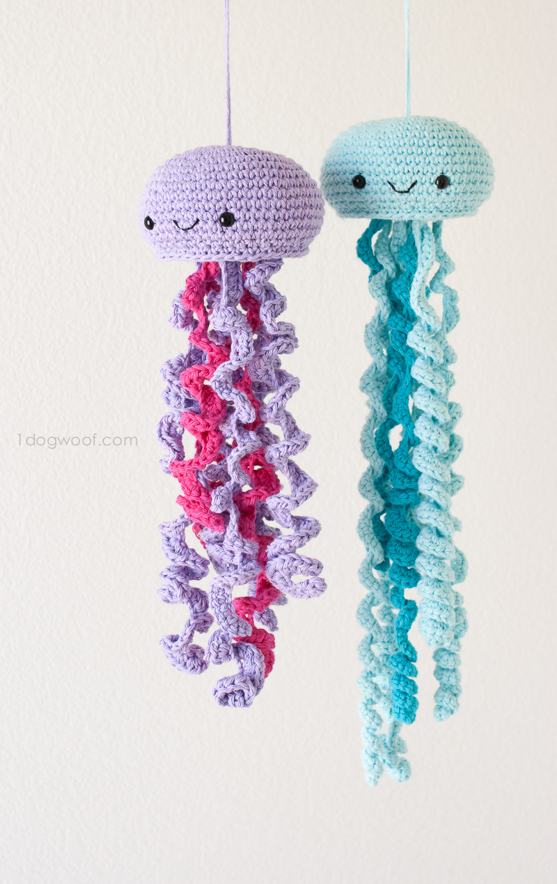27 Crochet Projects That Are Going To Make You Want To Learn How To Crochet: Crochet Jellyfish Pattern from 1 Dog Woof