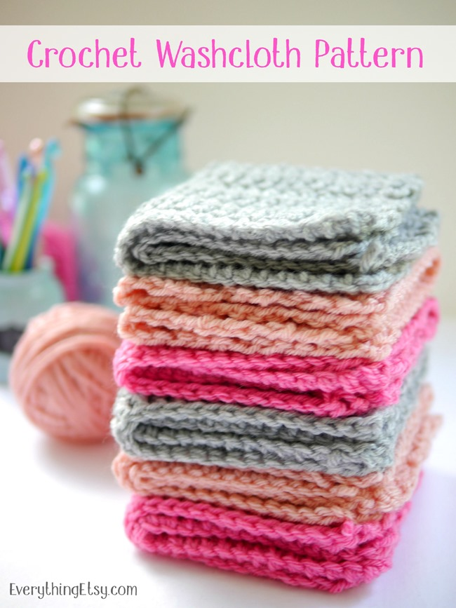 27 Crochet Projects That Are Going To Make You Want To Learn How To Crochet: Crochet Washcloth Pattern from Everything Etsy