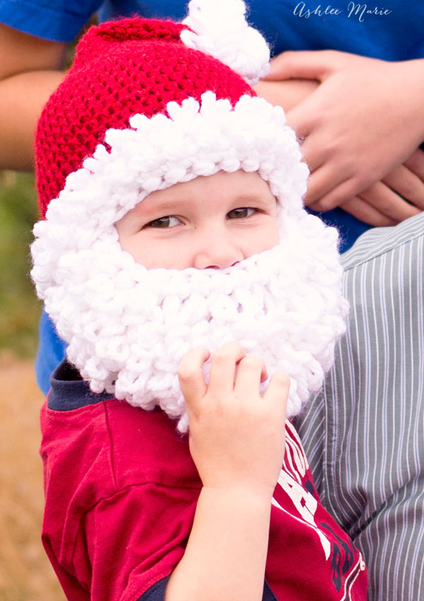 27 Crochet Projects That Are Going To Make You Want To Learn How To Crochet: Crocheted Santa Hat with Beard Pattern from Ashlee Marie