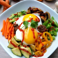 Bibimbap Inspired Quinoa Bowl Recipe + My Visit With BC Egg Farmers