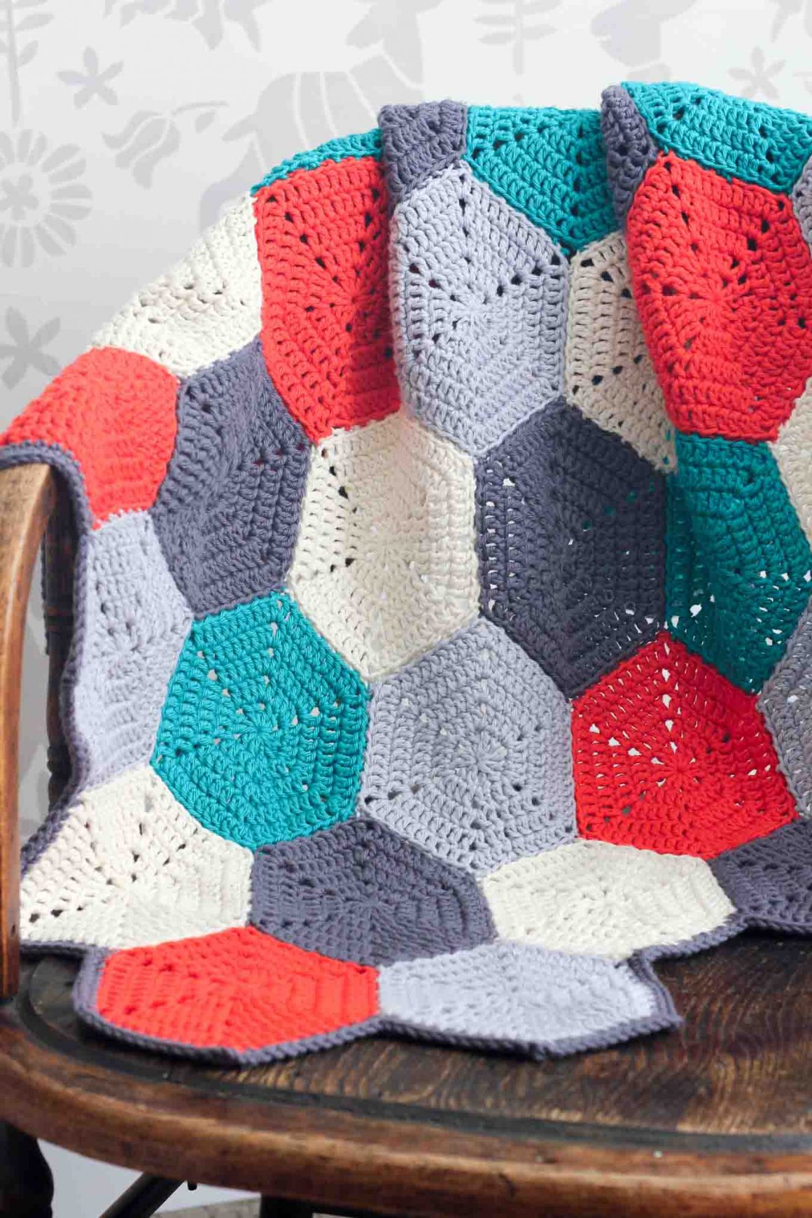 27 Crochet Projects That Are Going To Make You Want To Learn How To Crochet: Happy Hexagons Crochet Pattern from Make and Do Crew