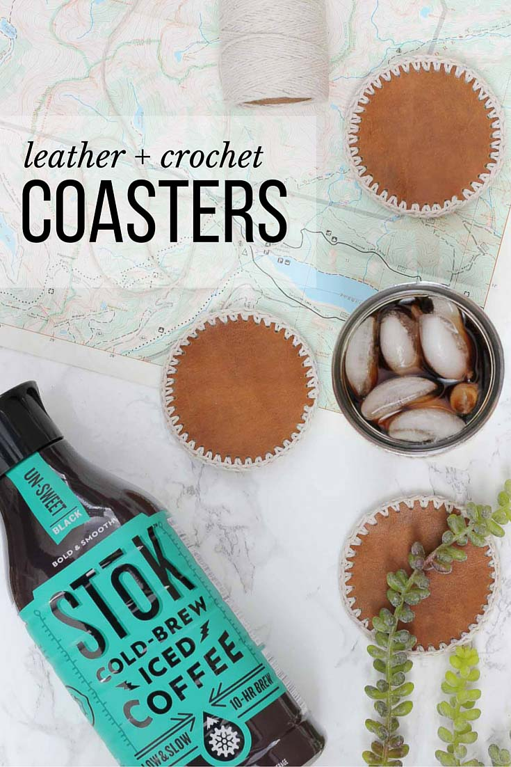 27 Crochet Projects That Are Going To Make You Want To Learn How To Crochet: Leather and Crochet Coasters from Make and Do Crew