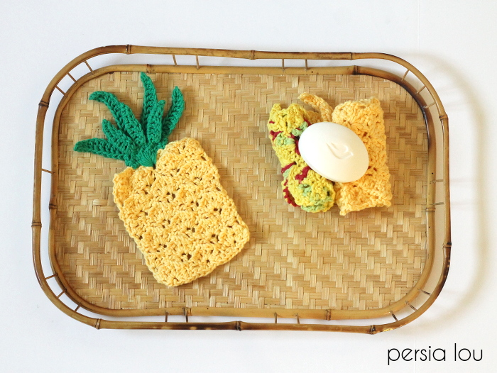27 Crochet Projects That Are Going To Make You Want To Learn How To Crochet: Pineapple Dish Cloth Crochet Pattern From Persia Lou