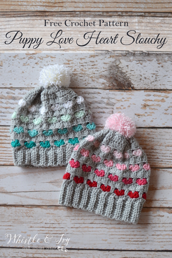 27 Crochet Projects That Are Going To Make You Want To Learn How To Crochet: Puppy Love Slouchy Hat from Whistle and Ivy