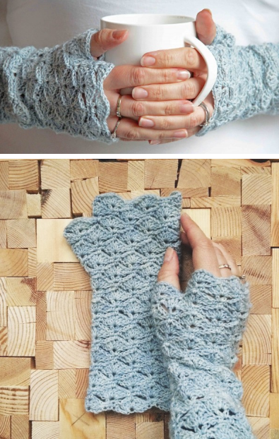 27 Crochet Projects That Are Going To Make You Want To Learn How To Crochet: Fingerless Glove Crochet Pattern from Crejjtion