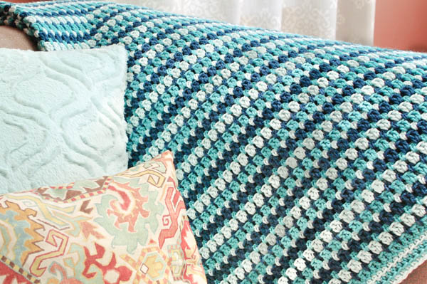 27 Crochet Projects That Are Going To Make You Want To Learn How To Crochet: Sea Glass Crochet Afghan Pattern from Petals to Picots