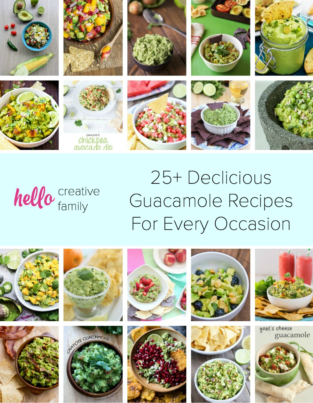 25 Delicious Guacamole Recipes for Every Occasion from Hello Creative Family