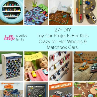 27+ DIY  Toy Car Projects For Kids Crazy for Hot Wheels and Matchbox Cars!