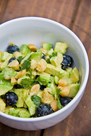 Blueberry Macadamia Nut Guacamole Recipe from immaeatthat