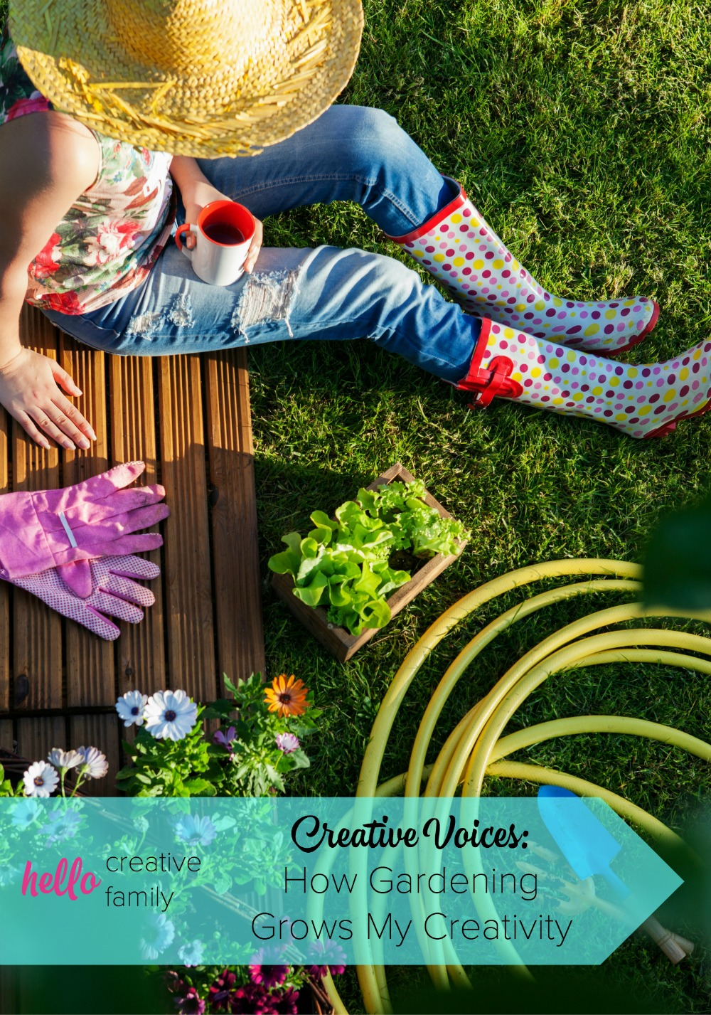 Life is busy, but that's no excuse to not spend time being creative. One writer shares the places that she manages to find her creative inspiration, including when she is gardening.