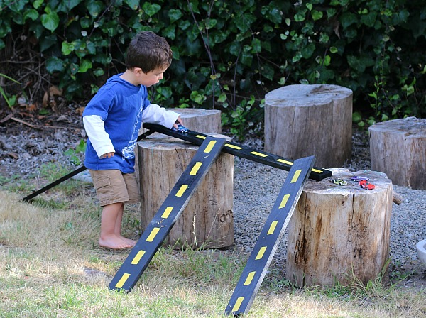 DIY Easy Toy Car Ramps from All For The Boys