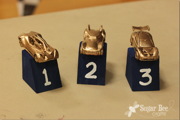 DIY Hot Wheel Trophies from Sugar Bee Crafts
