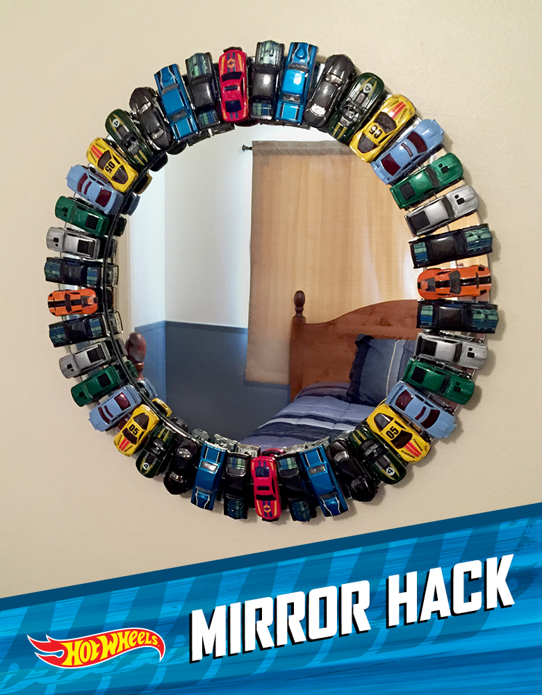 DIY Hot Wheels Mirror from Hot Wheels