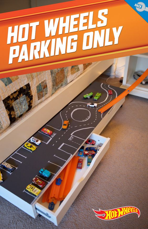 DIY Hot Wheels Parking Storage Solution from Hot Wheels
