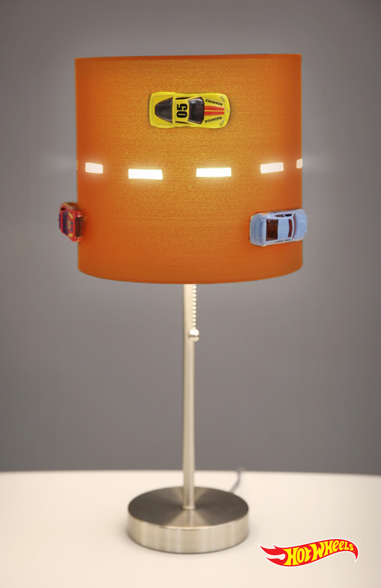DIY Hot Wheels Racetrack Lamp from Hot Wheels