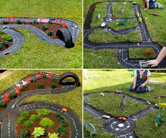 DIY Outdoor Racetrack from The WHOot
