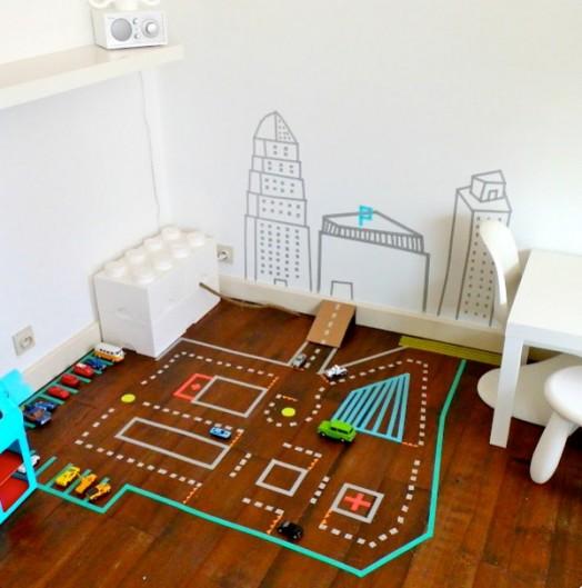 DIY Washi Tape City from Kidsomania