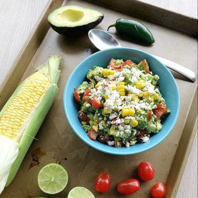 Festive Sweet Corn Guacamole Recipe