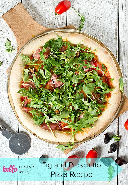 On a recent trip to New York I had the most delicious pizza I've ever tasted. I've recreated this New York experience for you all to try! This homemade Fig and Prosciutto Pizza Recipe will make the most delicious pizza you've ever tasted!
