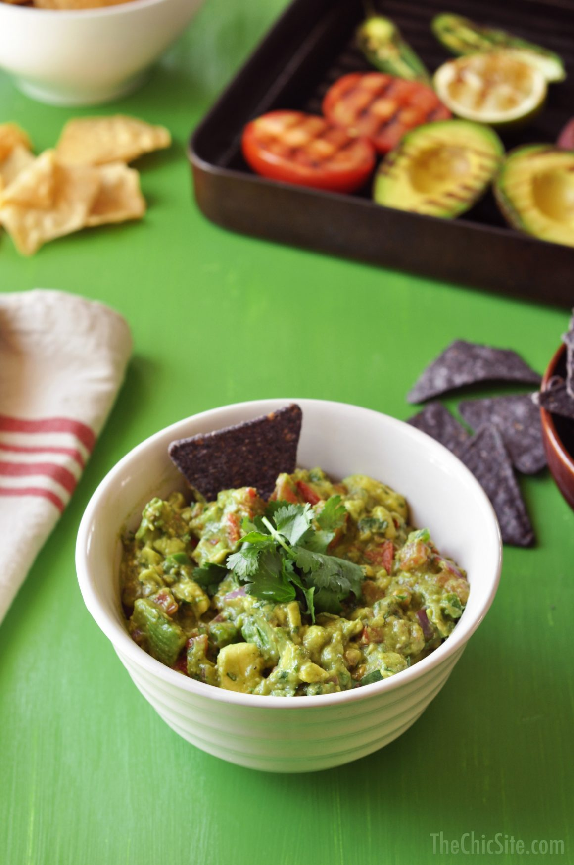 Grilled Guacamole Recipe from The Chic Site